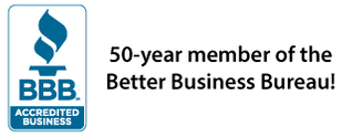 50-Year Member of the Better Business Bureau